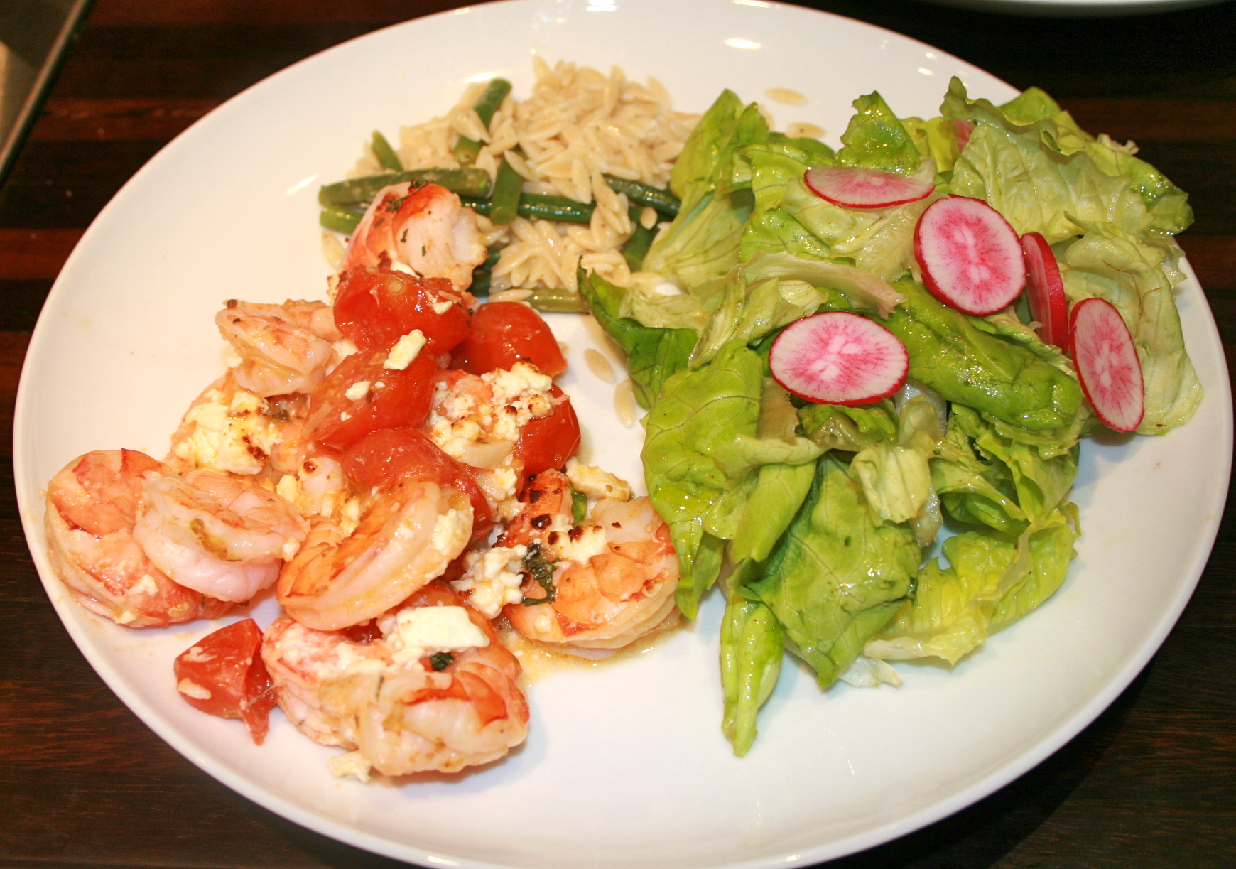 Baked Shrimp With Tomato and Feta at www.ahealthylifeforme.com