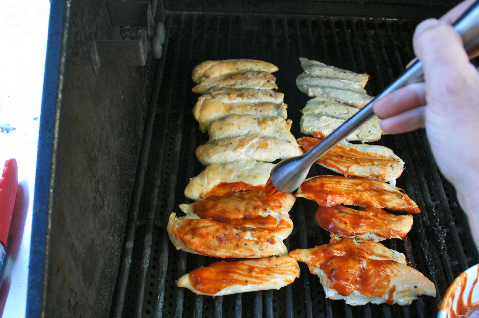 Barbecue Chicken Grilling