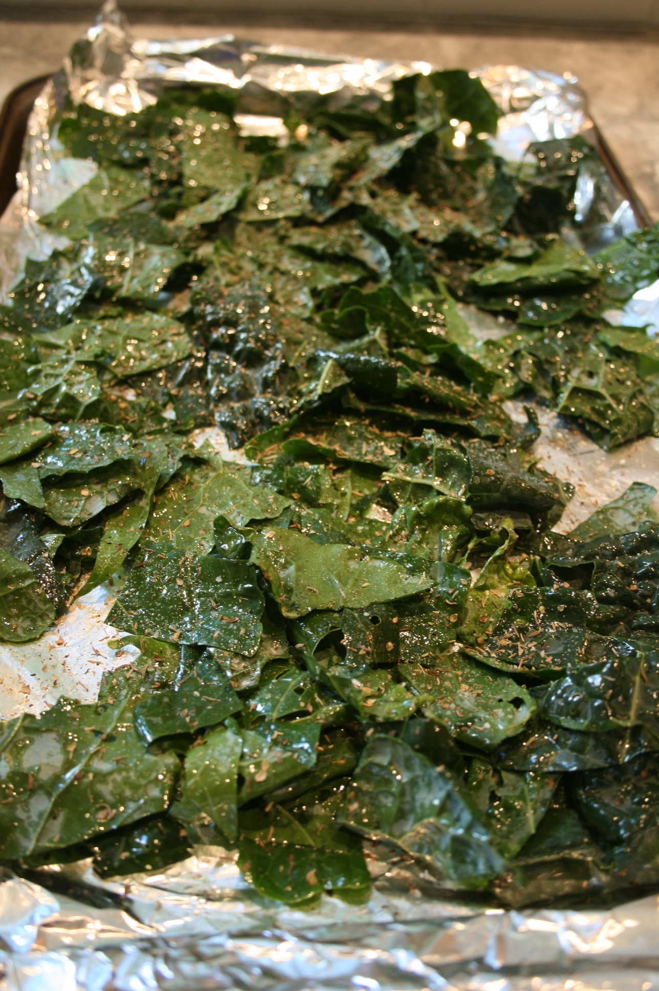 Baking Kale Chips