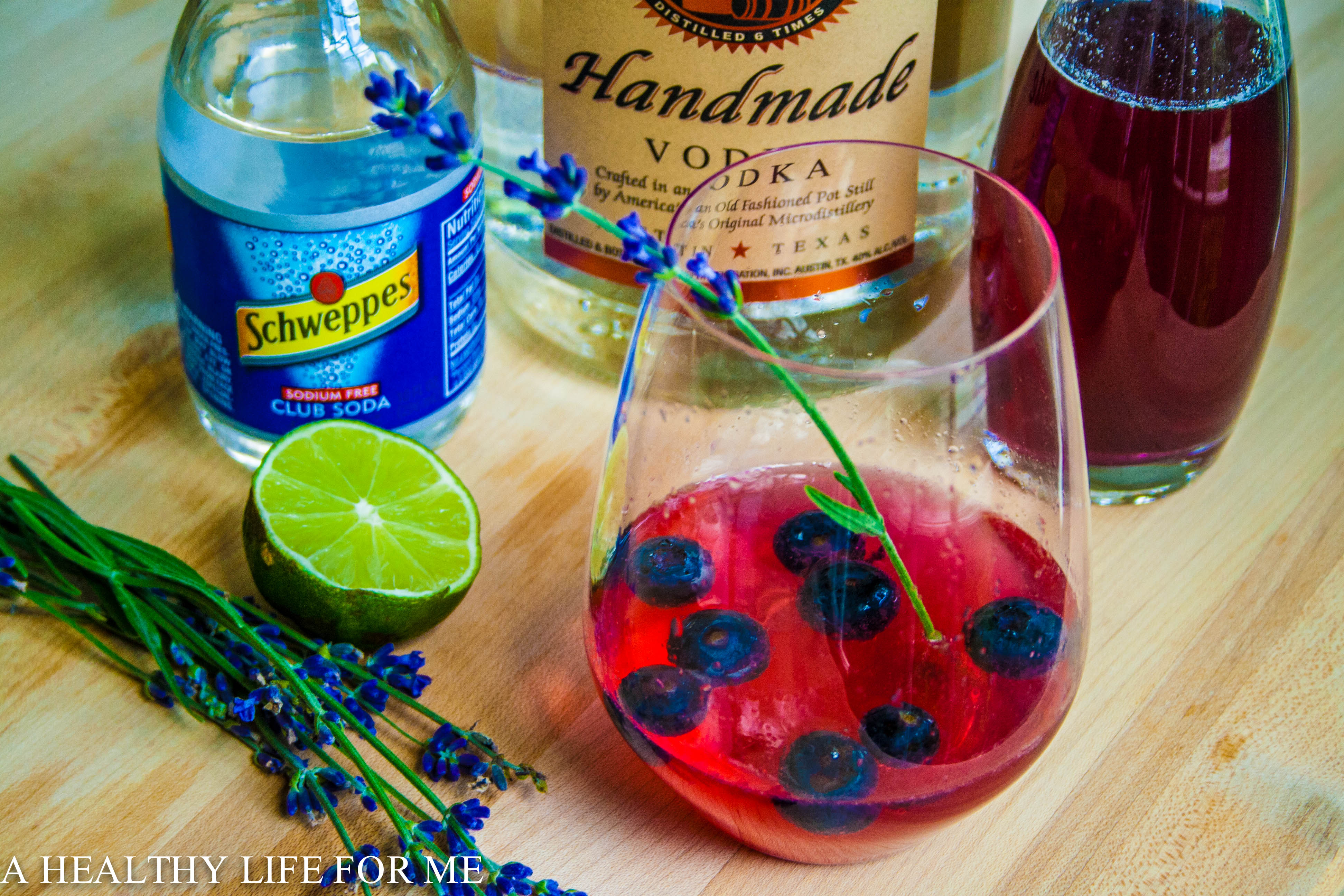 In a glass pitcher combine the vodka, simple syrup, lime juice, and ...